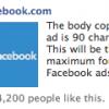 Facebook уменьшает размер изображения и количество символов в рекламе