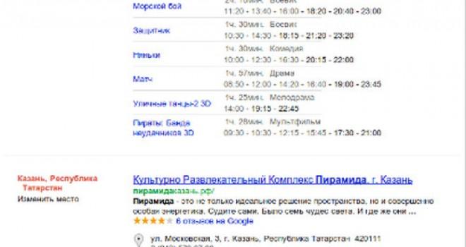 Улучшение Google выдачи по локальным запросам
